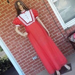 Vintage 50s deadstock ruffled formal dress size 2